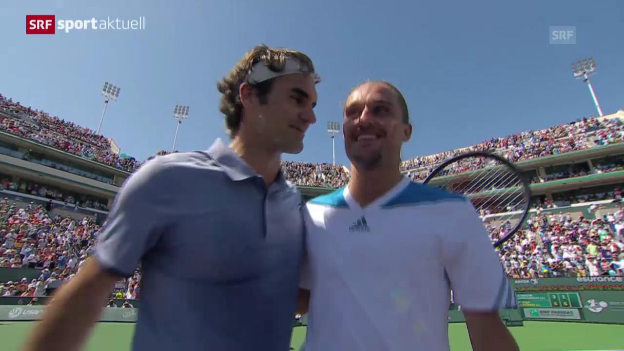 Tennis: Indian Wells, Halbfinal, Federer-Dolgopolow («sportaktuell»)