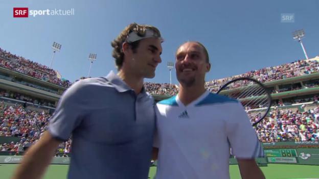 Video «Tennis: Indian Wells, Halbfinal, Federer-Dolgopolow («sportaktuell»)» abspielen
