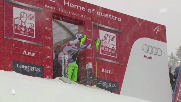 Video «Ski Alpin: Slalom Are, 2. Lauf von Denise Feierabend («sportlive», 8.3.2014)» abspielen