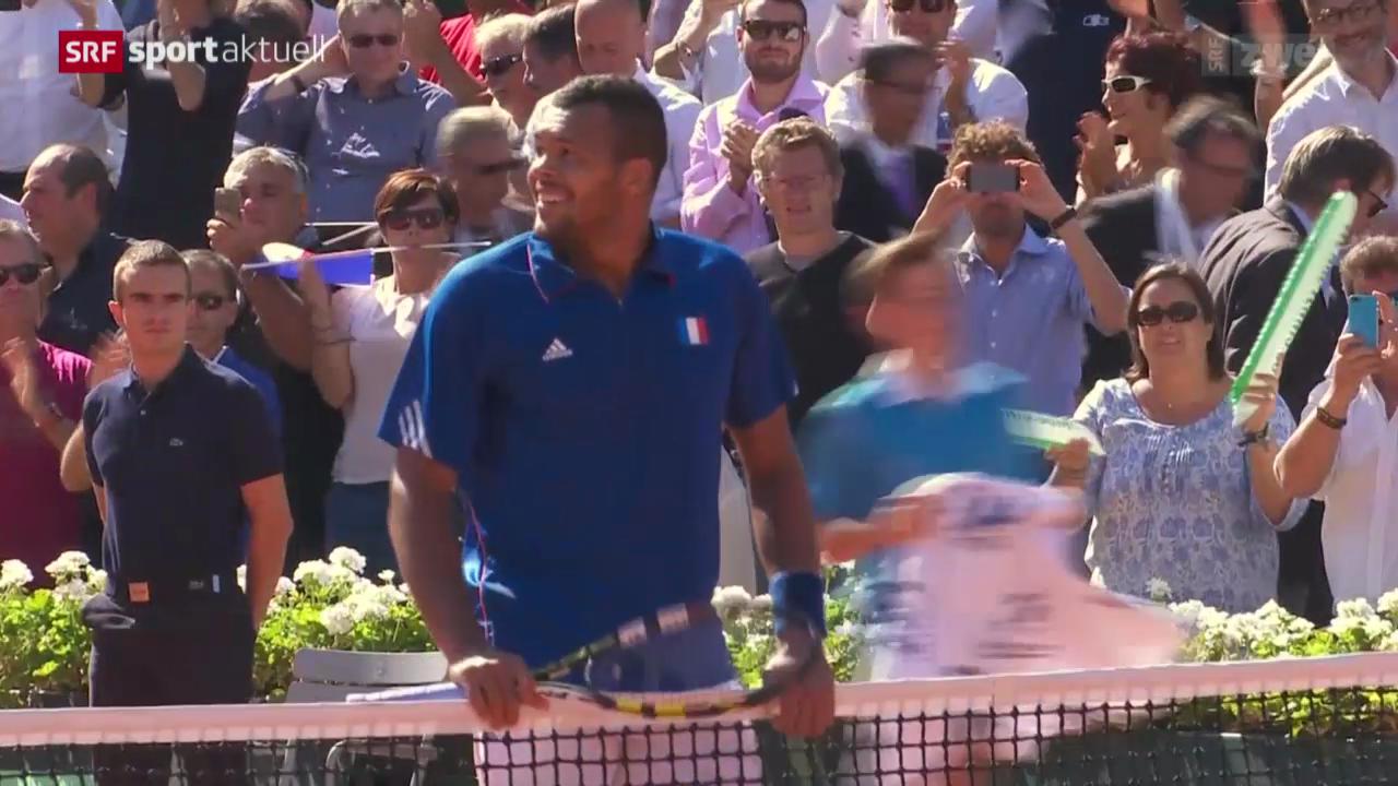 Tennis: Davis Cup, Frankreich-Tschechien
