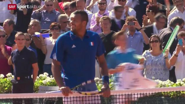 Video «Tennis: Davis Cup, Frankreich-Tschechien» abspielen