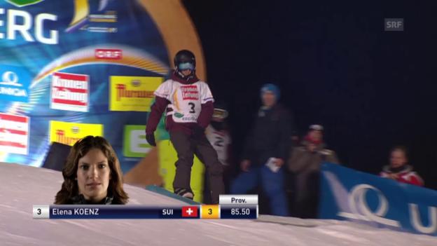 Video «Big-Air: Elena Könz 1. und 2. Run» abspielen