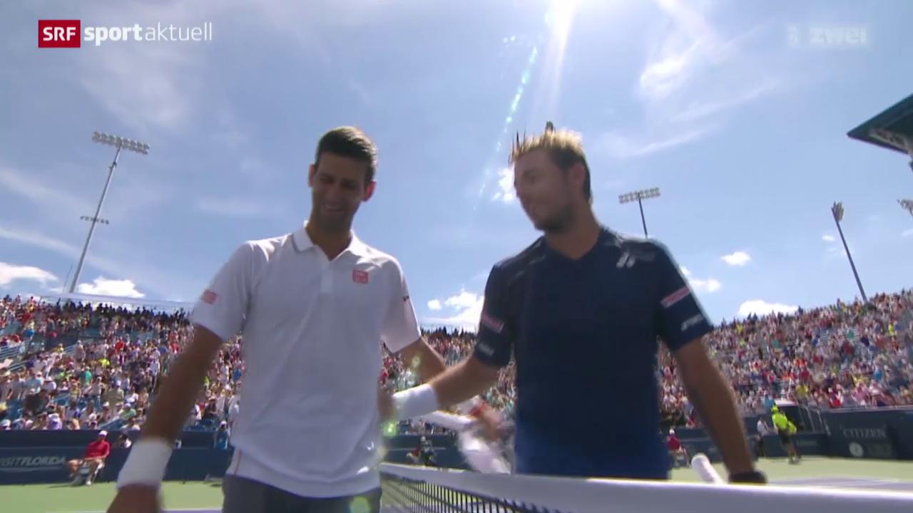 Tennis: ATP Cincinnati, Viertelfinal Wawrinka - Djokovic