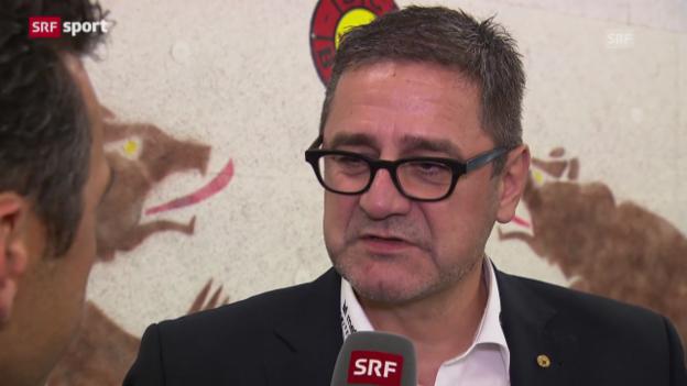 Video «SCB-CEO Marc Lüthi stärkt Antti Törmänen den Rücken» abspielen