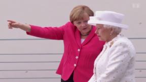 Video «Königin trifft Kanzlerin: Elizabeth II. beehrt Deutschland» abspielen