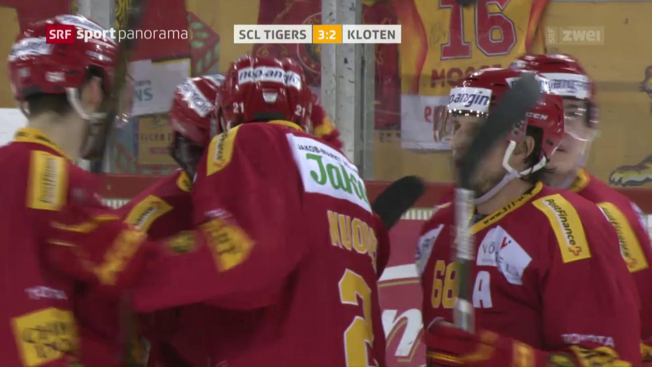 Tigers siegen erneut gegen Kloten