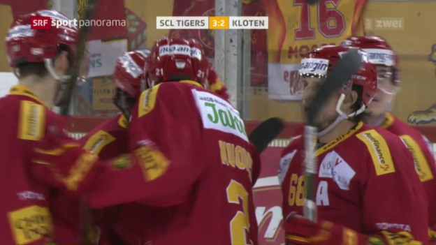 Video «Tigers siegen erneut gegen Kloten» abspielen