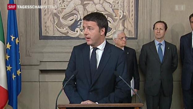Video «Matteo Renzi soll eine neue Regierung bilden» abspielen