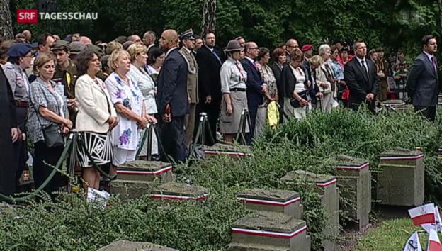 Video «Polen gedenkt Aufstandsopfern» abspielen