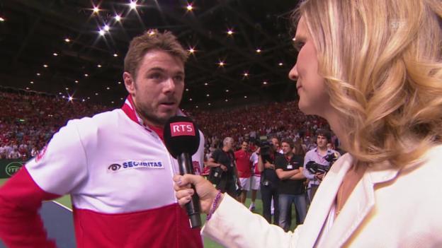Video «Tennis: Interview mit Stan Wawrinka» abspielen