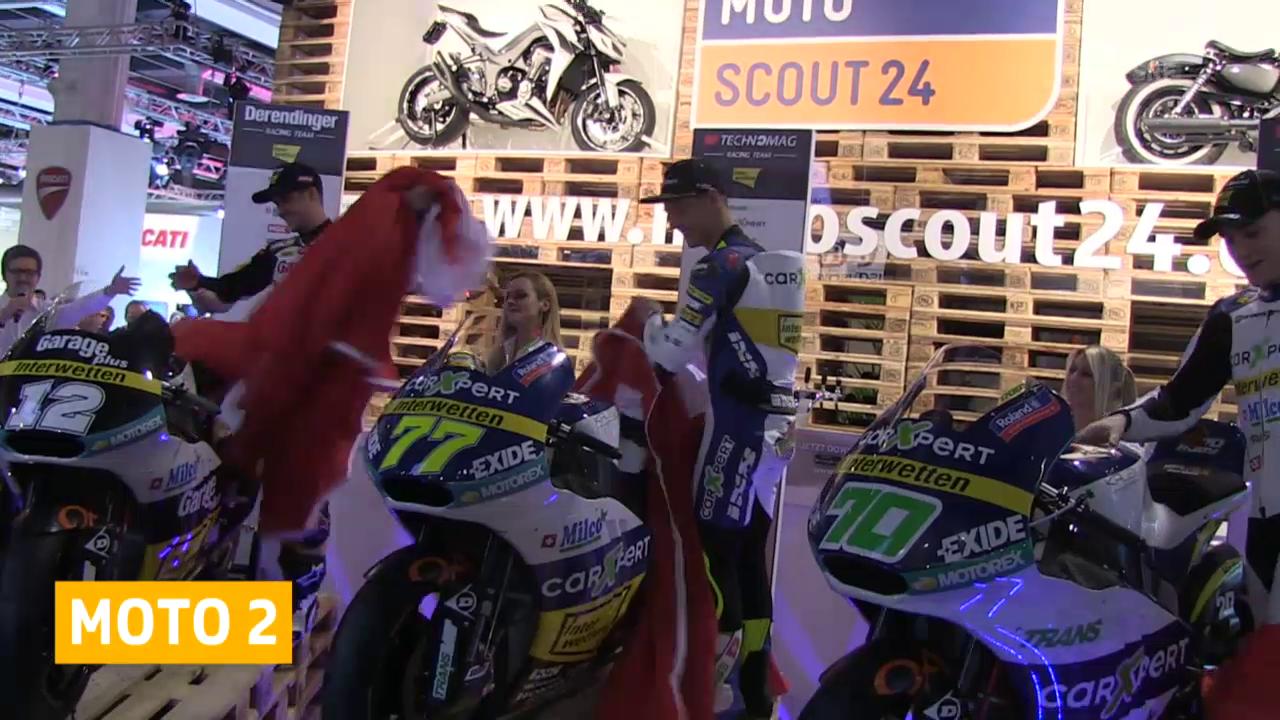 Motorrad: Schweizer Moto2-Fahrer präsentieren ihre Maschinen («sportaktuell»)