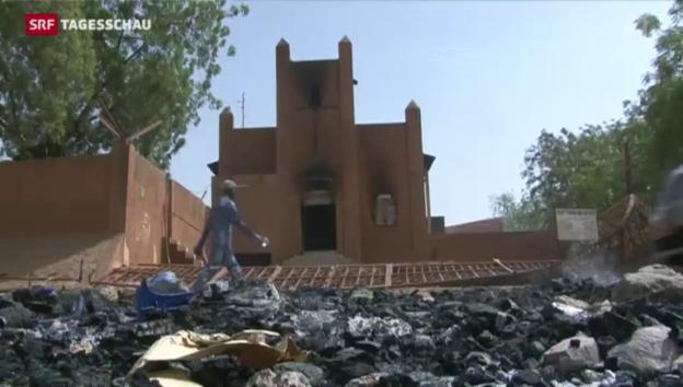 Video «Kirchen in Niger niedergebrannt» abspielen