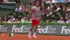 Video «Federer am French Open souverän gestartet» abspielen