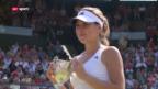 Video «Tennis: Bencic triumphiert in Wimbledon («sportaktuell»)» abspielen