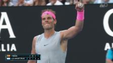Link öffnet eine Lightbox. Video Nadal ringt Schwartzman nieder abspielen