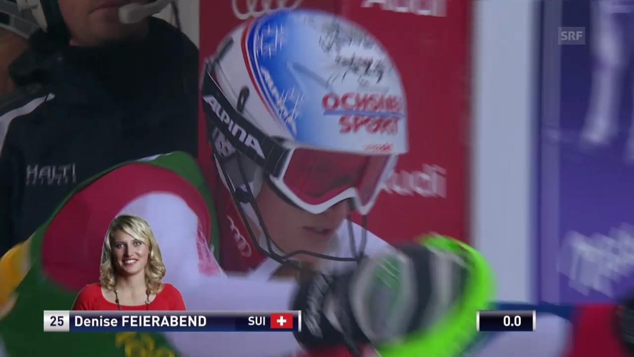 Ski: Slalom Kranjska Gora, 1. Lauf von Denise Feierabend («sportlive», 02.02.2014)