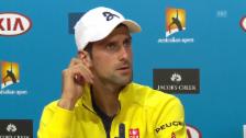 Video «Djokovic äusserst sich an den Australian Open zu Manipulationsvorwürfen» abspielen