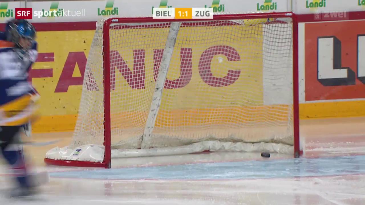 Eishockey: NLA, Biel - Zug