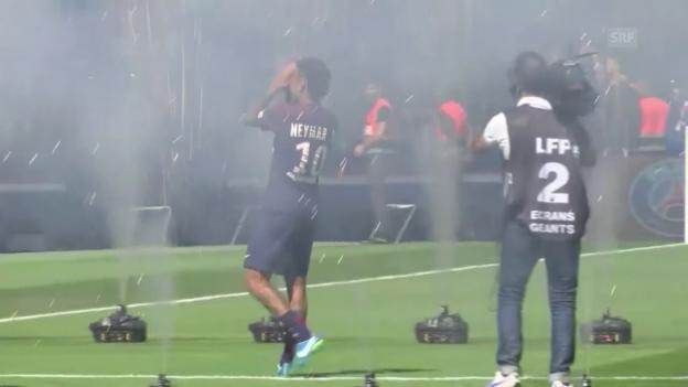 Video «Neymars Vorstellung im Prinzenpark» abspielen