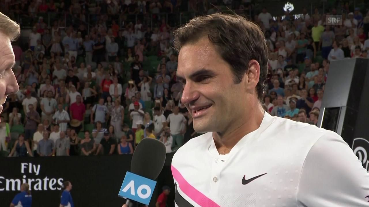 Federer: «Zum Glück wieder Nightsession» (engl.)