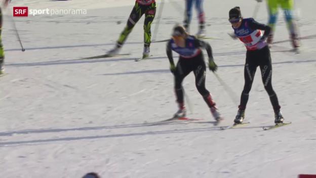 Video «Ski nordisch: WM in Falun, Langlauf Teamsprint» abspielen