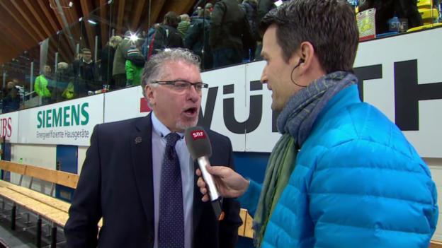 Video «Eishockey: Spengler Cup, Interview Doug Shedden» abspielen