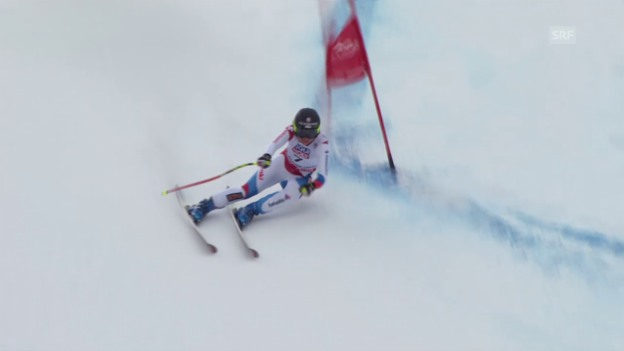 Video «Ski Alpin: WM 2015 Vail/Beaver Creek, Super-G Frauen, die Fahrt von Fabienne Suter» abspielen