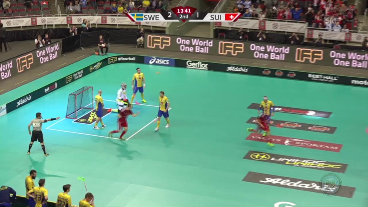 Die Schweiz gegen Schweden ohne Chance