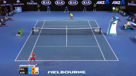 Video «Kerber verwertet den Matchball an den Australian Open» abspielen