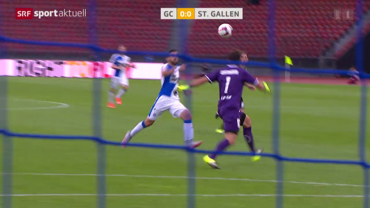 Fussball: Super League, GC - St. Gallen
