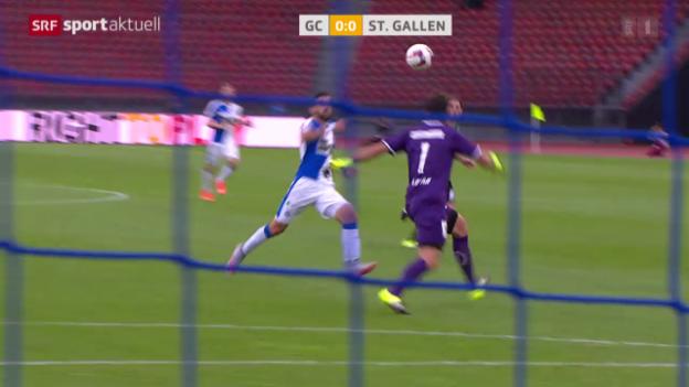 Video «Fussball: Super League, GC - St. Gallen» abspielen