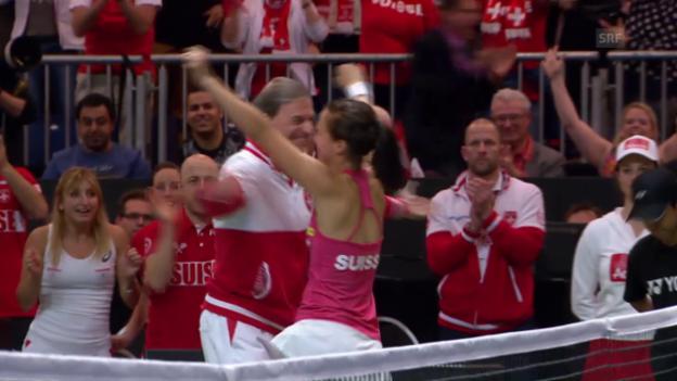 Video «Die Live-Highlights bei Golubic - Pliskova» abspielen