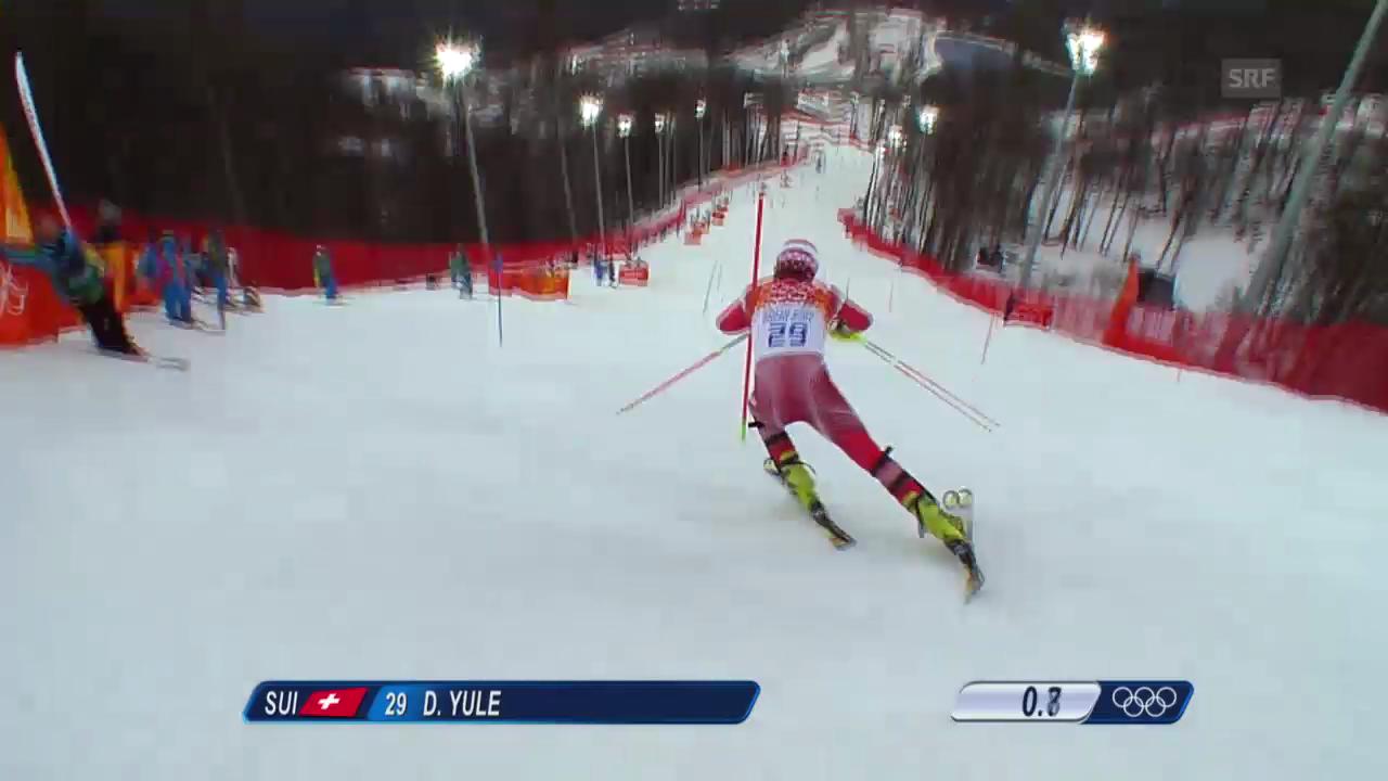 Ski Alpin: Slalom der Männer, 1. Lauf von Daniel Yule (sotschi direkt, 22.2.2014)