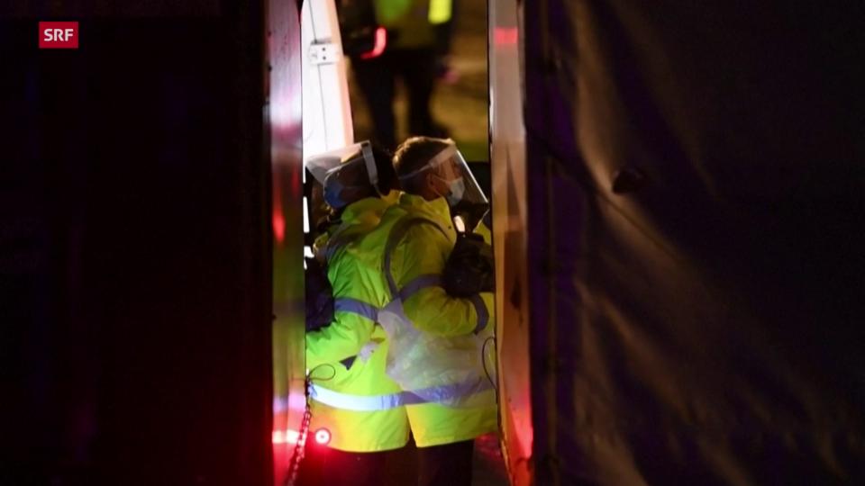 Aus dem Archiv: LKW-Fahrer in Dover warten auf Weiterfahrt
