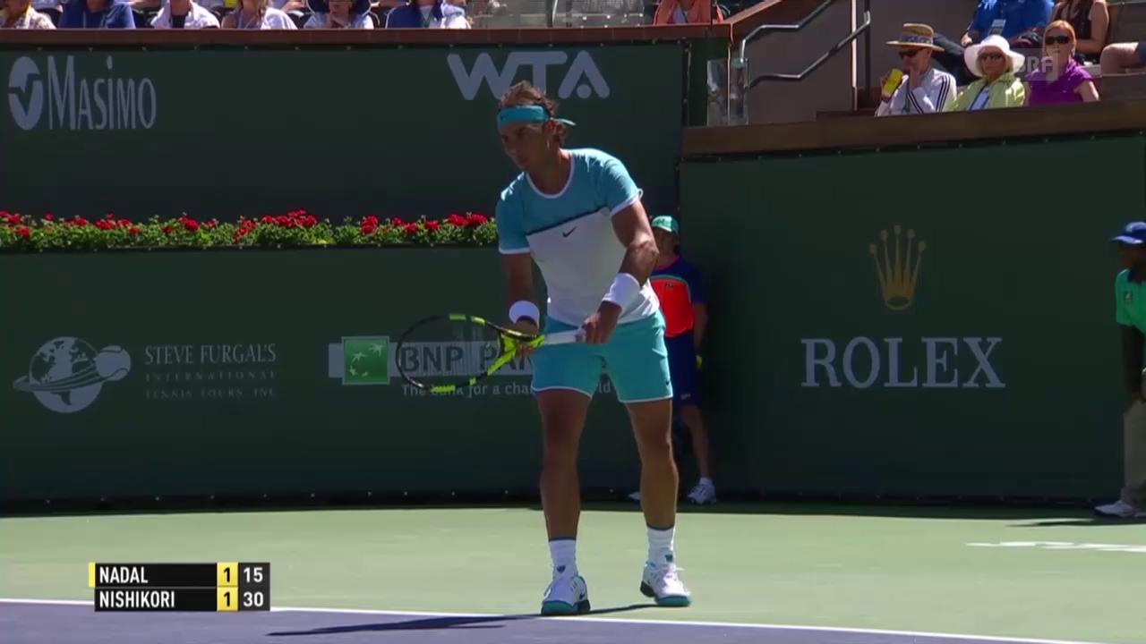 Rafael Nadal schlägt Kei Nishikori im Halbfinal von Indian Wells