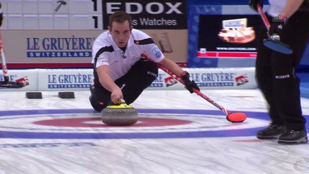 Video «Curling: EM Champéry, Bronzespiel SUI-ITA, 3. End» abspielen