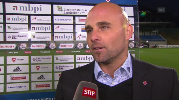 Video «Fussball: Super League, 26. Runde, Vaduz - YB, Interview Contini» abspielen