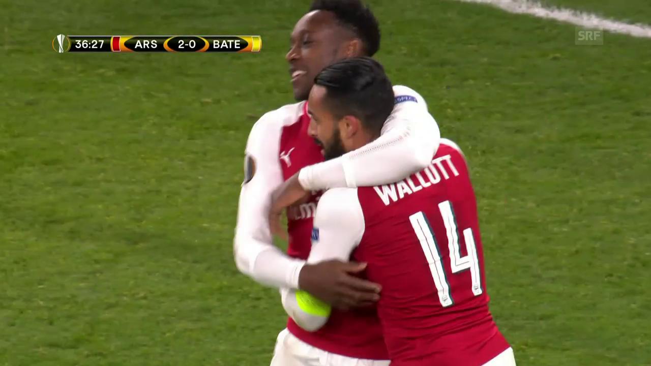 Arsenal gegen Bate Borisow im Torrausch