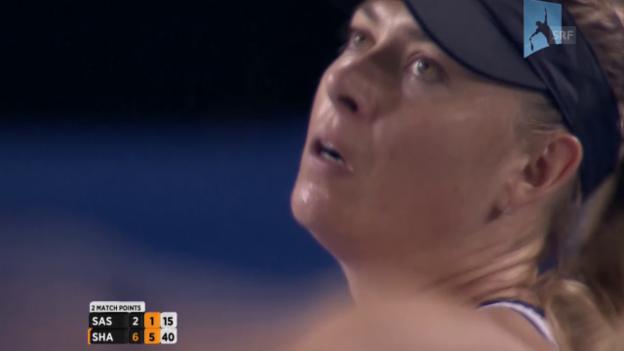 Video «Scharapowa zieht in die nächste Runde ein» abspielen