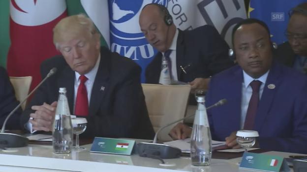 Video «Trump kommt zu spät und hört nicht zu» abspielen