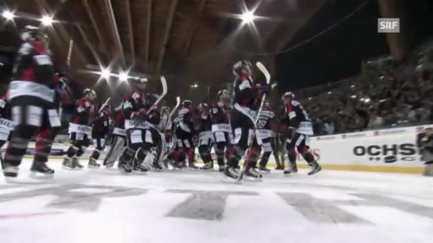 Video «Spengler Cup: Zusammenfassung Fribourg - Mannheim» abspielen