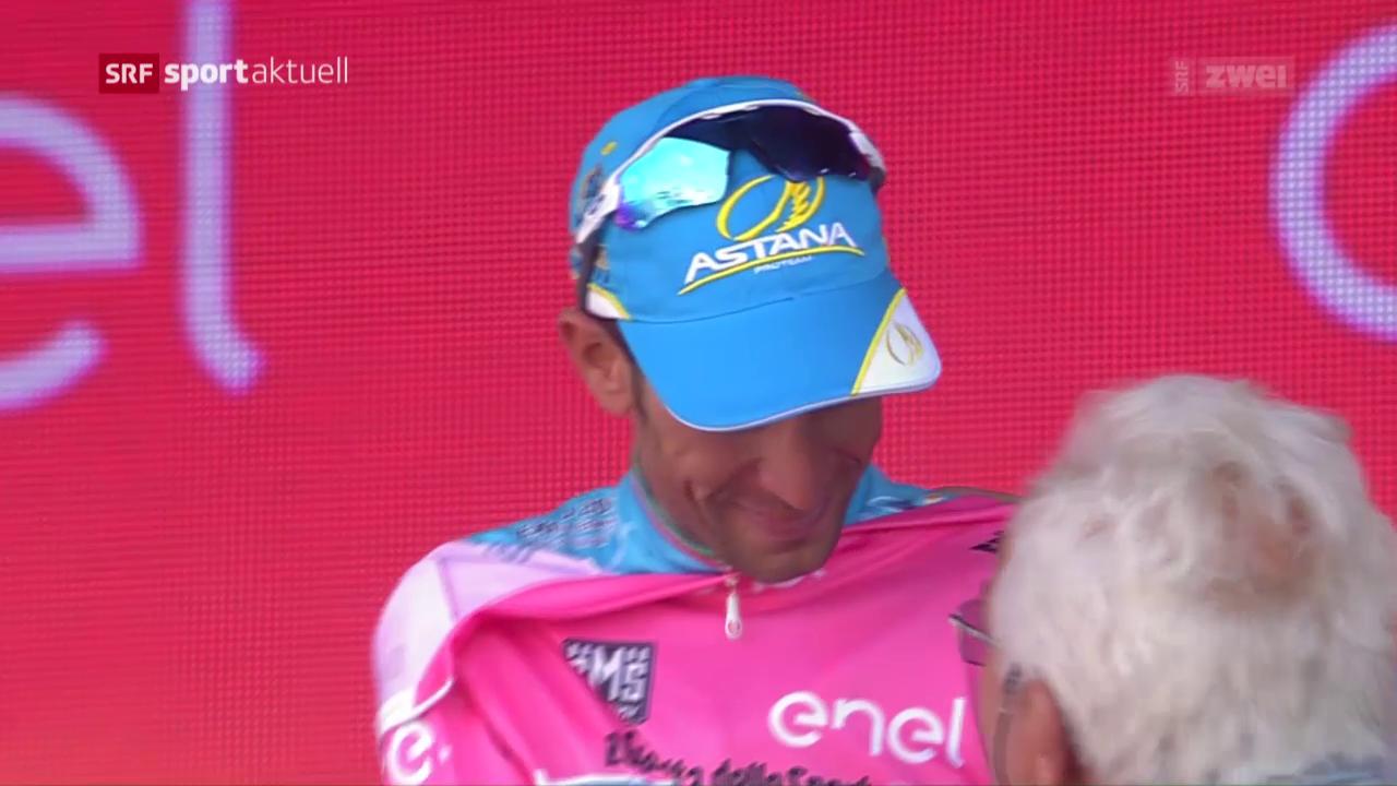 Nibali holt sich die Maglia rosa