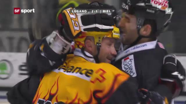 Eishockey: Daniel Steiners Tor gegen Biel (Beitrag «sportaktuell» vom 4.12.2012)