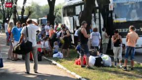 Video «Hunderttausende Ukrainer auf der Flucht» abspielen