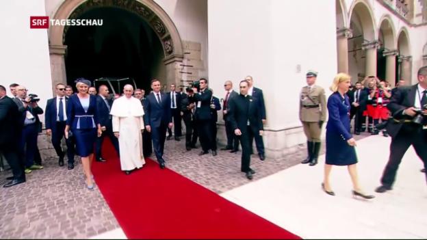 Video «Papst auf heikler Mission in Polen» abspielen