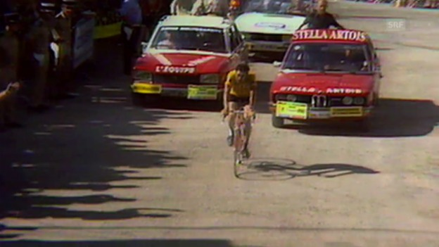 Video «Rad: TdF 1975, Merckx in Pra Loup geschlagen» abspielen
