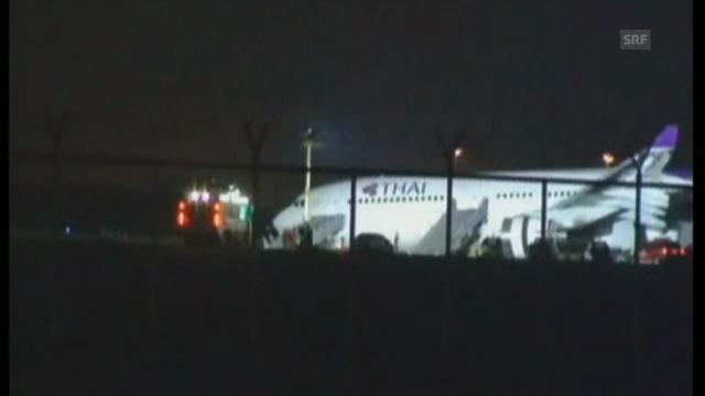 Thai Airways-Airbus nach Notlandung (unkomm.)