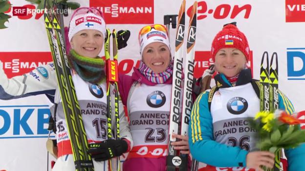 Video «Biathlon: Weltcup in Le Grand Bornand» abspielen