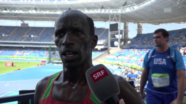 Video «Kemboi gibt nach dem Rennen seinen Rücktritt bekannt» abspielen