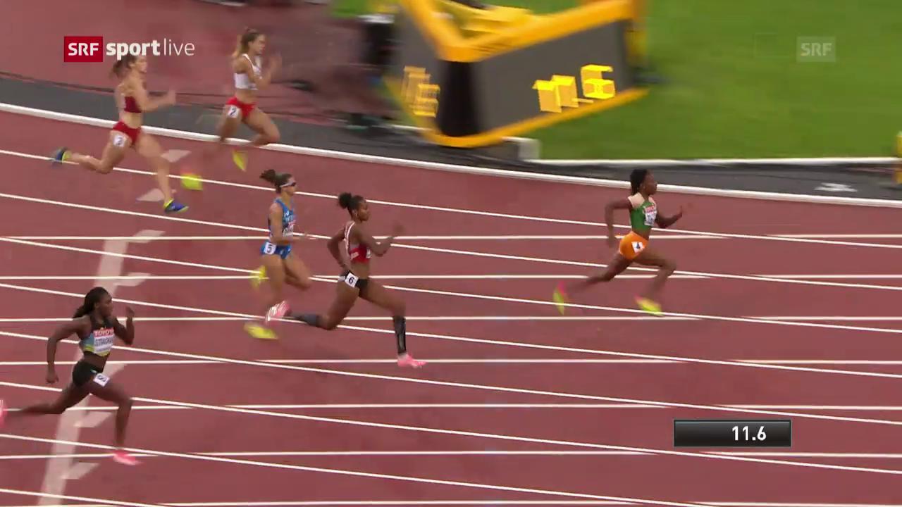 Der 200-m-Vorlauf von Sarah Atcho